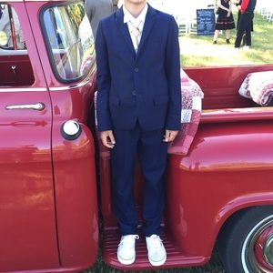 Zara Boys 11/12 Navy Wool Suit